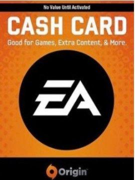 Origin gavekort indeholder en kode som kan indløses til nye spil fra bl.a. EA